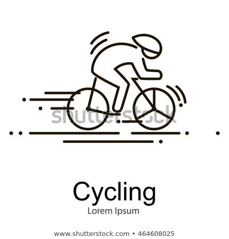 Zdjęcia stock: Rower · wyścigu · rowerzysta · rowery · sportowe · wektora