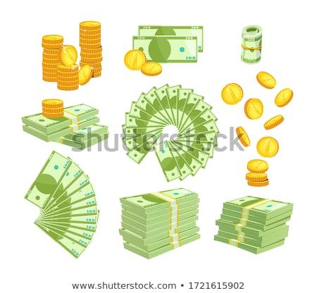 pénz · ikonok · izolált · fehér · háttér · vektor - stock fotó © robuart