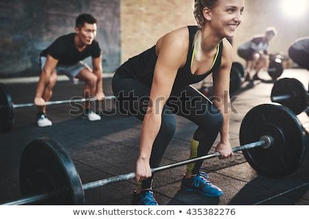 grup · insanlar · eğitim · spor · salonu · uygunluk · spor · egzersiz - stok fotoğraf © dolgachov