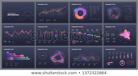 Duży danych app interfejs szablon dwa Zdjęcia stock © RAStudio