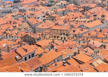 öreg házak tetők Dubrovnik Horvátország felső Stock fotó © bezikus