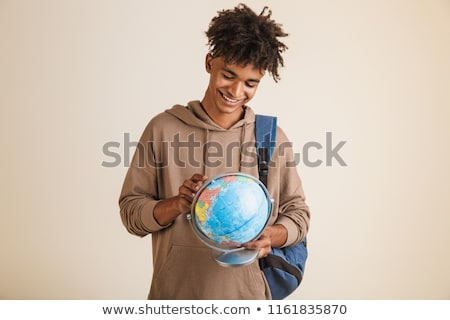 Portrait of a young afro american man dressed in hoodie Stock photo © deandrobot