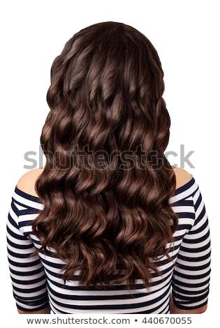 Luxueus glanzend haren rechtdoor textuur Stockfoto © tommyandone