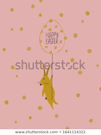 voorjaar · kaart · sjabloon · ballonnen · roze · Geel - stockfoto © Natali_Brill