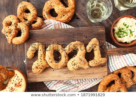 pretzel with seeds stock photo © foka
