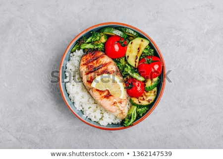 rice with salmon Stock photo © tycoon
