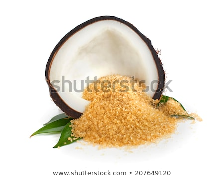 coconut on a brown and white stock photo © conceptcafe