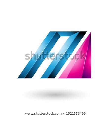 Blu magenta lettera lucido diagonale bar Foto d'archivio © cidepix