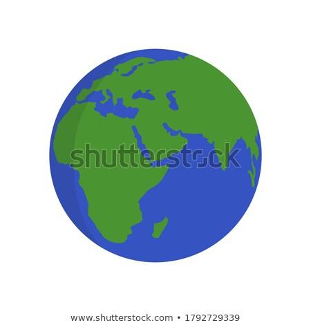 földgömb · Föld · vektor · ikon · izolált · fehér - stock fotó © kyryloff