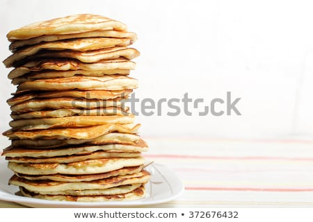 Stack of pancakes  Stockfoto © grafvision