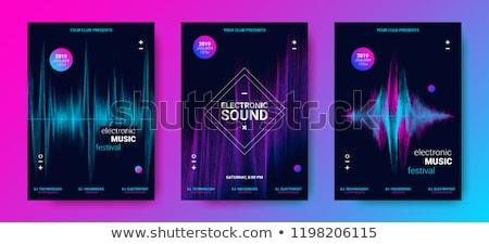 equalizer music flyer stock photo © alexaldo
