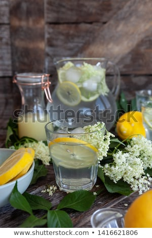 Stock photo: Homemade lemonade made with elderflower sirup