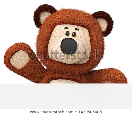 3d tener barril miel juguete cuchara de madera Foto stock © karelin721