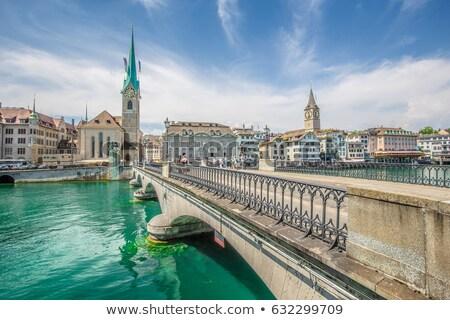 kerk · Zürich · Zwitserland · stad · tijd - stockfoto © borisb17