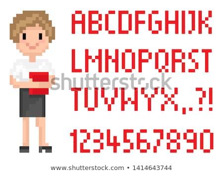pixel · művészet · ábécé · betűtípus · textúra · fém - stock fotó © robuart