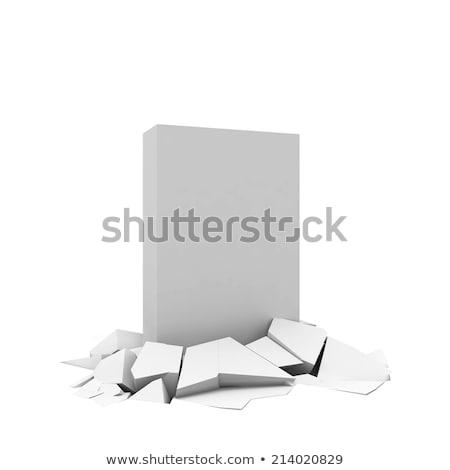 Box break through ground Stock photo © montego