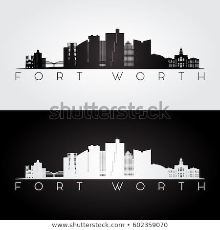 Silhouet fort waarde skyline panorama stad Stockfoto © Winner