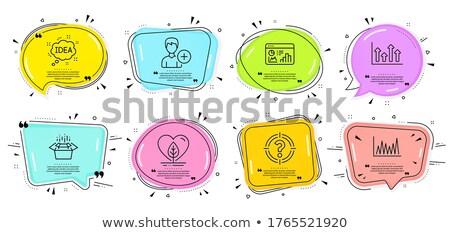 Cél nyíl beszélget doboz cél buborék Stock fotó © robuart
