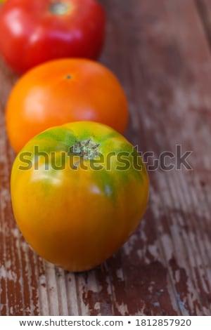 Stock photo: Mix of tomatoes background. Beautiful juicy organic red tomatoes