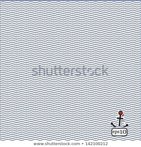 вектора современных синий бесшовный волнистый линия Сток-фото © blumer1979