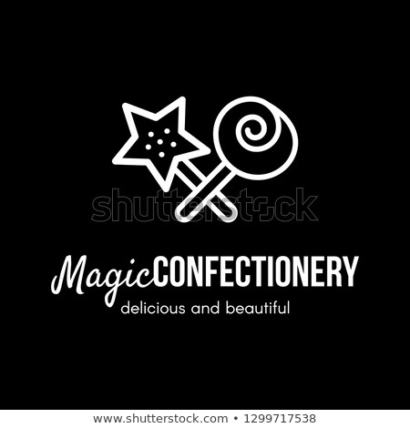 Magie banketbakkerij store vector logo-ontwerp snoep Stockfoto © barsrsind