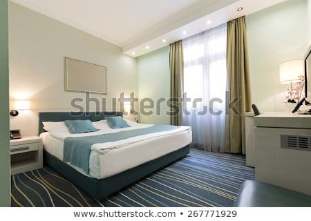 prepared double bed Stock photo © koratmember