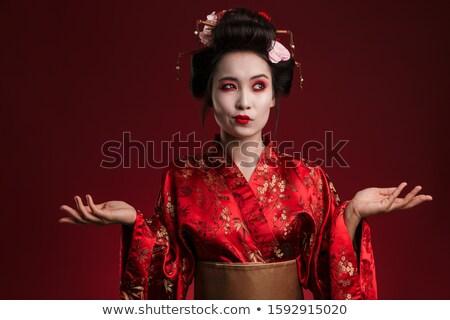 изображение путать азиатских гейш женщину традиционный Сток-фото © deandrobot