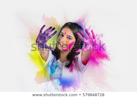 happy holi traditional indian festival wishes background Stock photo © SArts
