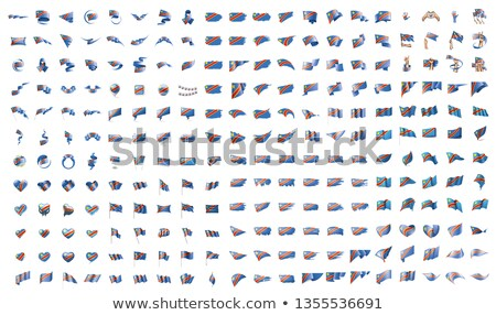 very big collection of vector flags of the Congo Stock photo © butenkow