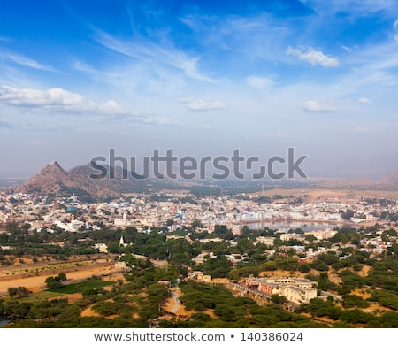 Hindu temple and indian city aerial view Stock photo © dmitry_rukhlenko