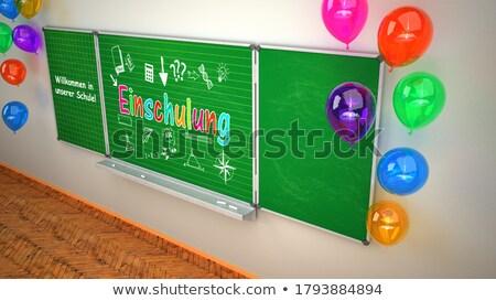 школы зеленый мелом совета текста зачисление Сток-фото © limbi007