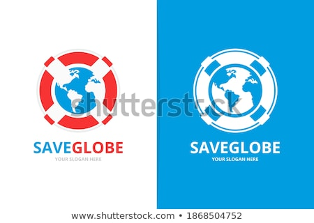 Earth globe on lifebelt Stock photo © Amaviael