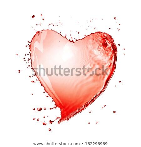 love and romance red liquid heart stock photo © arsgera