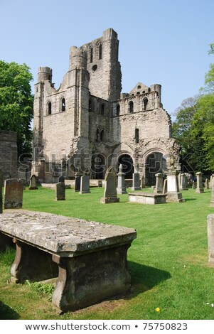 Ruins of Kelso abbey in Scotland Stock photo © Hofmeester