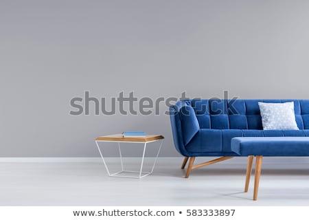 Bright blue sofa Stock photo © Ciklamen