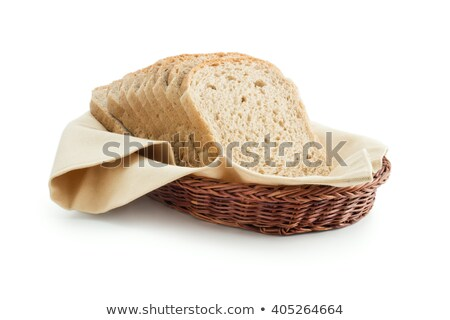 bread basket in golden warm color Stock photo © lunamarina