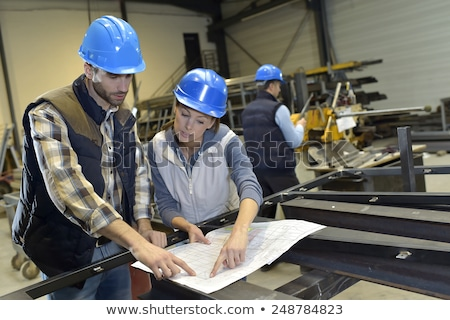 craftsman and craftswoman working together Stock photo © photography33