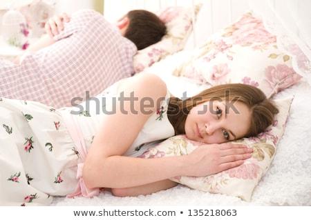Esposa infeliz marido adormecido homem paisagem Foto stock © photography33