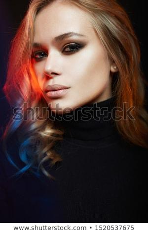 женщины · блондинка · гири · белый · женщину - Сток-фото © stryjek