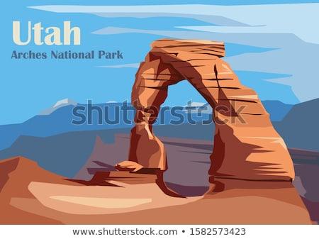 Sceniczny widoku parku Utah USA wieczór Zdjęcia stock © AndreyKr