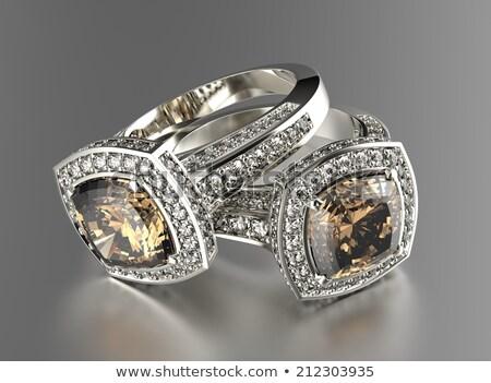 Cognac diamante isolato bianco gemma gioielli Foto d'archivio © Rozaliya