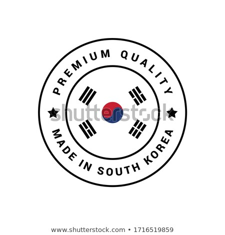 vector label Made in South Korea Stock photo © perysty