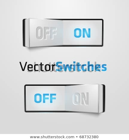 Blue light switch in 'ON' position Stock photo © ozaiachin