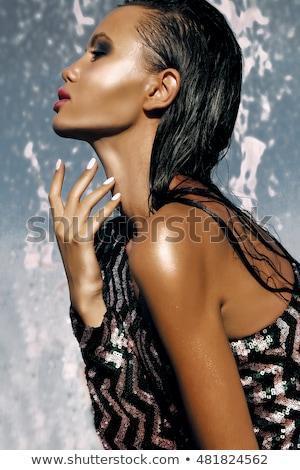портрет · Японский · макияж · женщину - Сток-фото © juniart