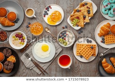 Ontbijt witte sap dieet gezonde granen Stockfoto © M-studio