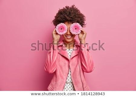 the gerbera in hair Stock photo © carlodapino
