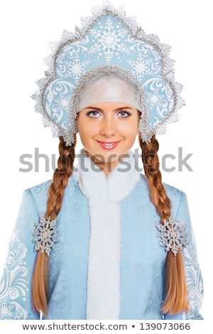 portrait of a nice snow maiden stock photo © acidgrey