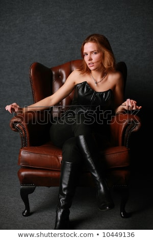 Beautiful curvaceous woman in a corset Stock photo © dash