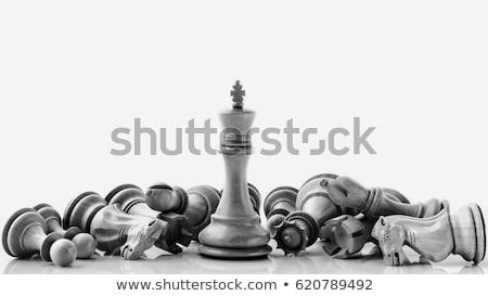 Buio pezzi scacchi bianco sport sfondo Foto d'archivio © wavebreak_media