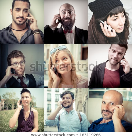 Collage of business people talking on the phone at the office Stock photo © wavebreak_media